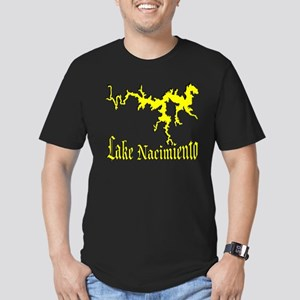 LAKE NACIMIENTO [4 yellow] Men's Fitted T-Shirt (d